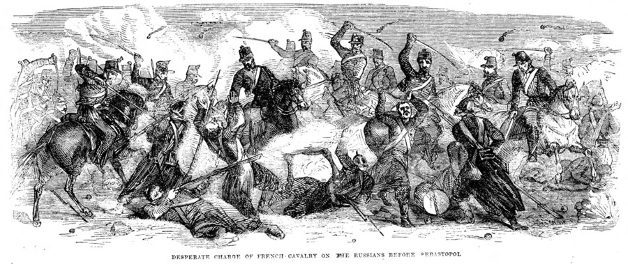Desparate Charge of French Cavalry on the Russians before Sebastopol.png