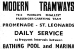 Newspaper Advertisement for trams